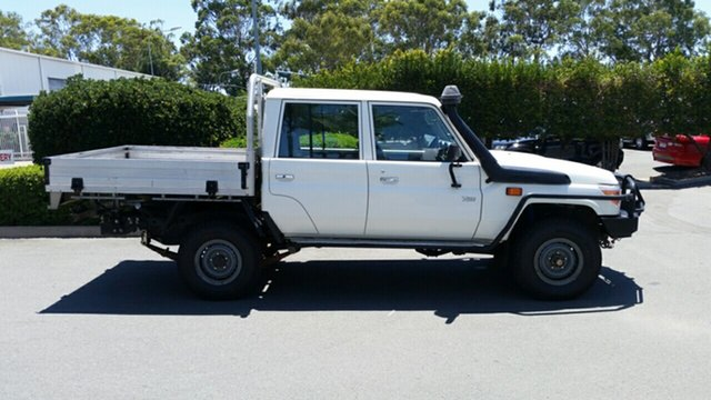 Used Toyota Landcruiser Workmate Double Cab, Acacia Ridge, 2014 Toyota Landcruiser Workmate Double Cab VDJ79R Cab Chassis