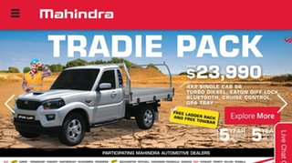 2019 Mahindra Pik-Up 2WD Tradie Pack Utility.