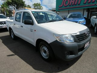 Used Toyota Hilux Workmate Double Cab 4x2, Mount Gravatt, 2013 Toyota Hilux Workmate Double Cab 4x2 TGN16R MY12 Utility