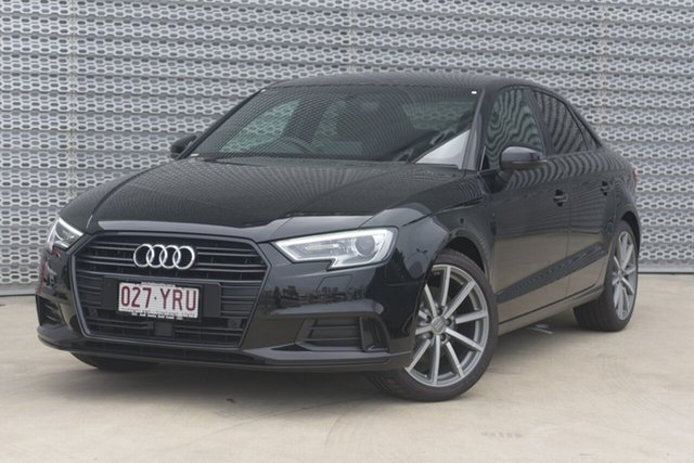 Demonstrator, Demo, Near New Audi A3 Sport S Tronic Black Edition, Southport, 2018 Audi A3 Sport S Tronic Black Edition Sedan