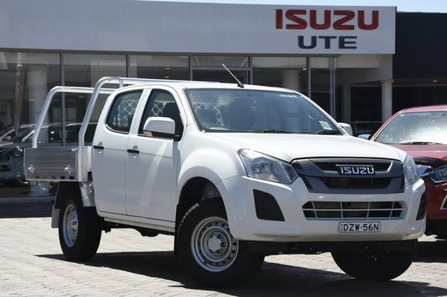 Discounted Demonstrator, Demo, Near New Isuzu D-MAX SX Crew Cab, Southport, 2018 Isuzu D-MAX SX Crew Cab Cab Chassis