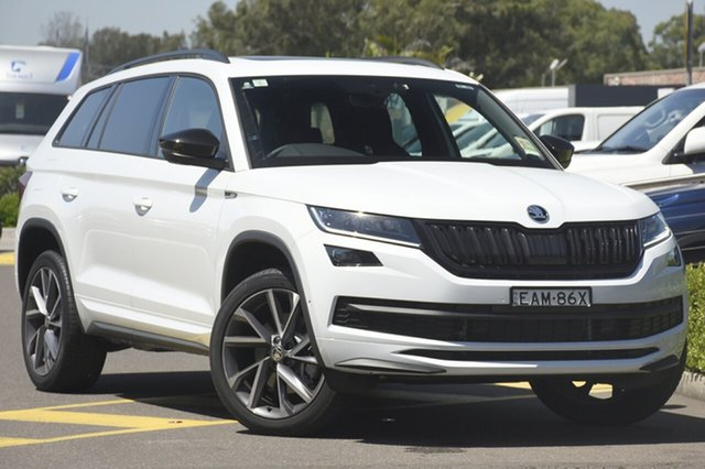 Discounted Demonstrator, Demo, Near New Skoda Kodiaq 132TSI DSG Sportline, Southport, 2018 Skoda Kodiaq 132TSI DSG Sportline Wagon