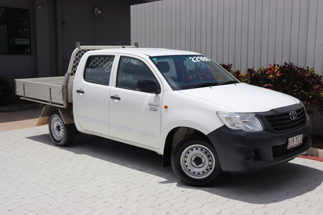 Used Toyota Hilux Workmate Double Cab 4x2, Cairns, 2015 Toyota Hilux Workmate Double Cab 4x2 Utility