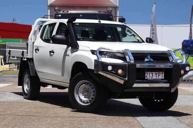 Demonstrator, Demo, Near New Mitsubishi Triton GLX Double Cab, Bowen Hills, 2018 Mitsubishi Triton GLX Double Cab Cab Chassis