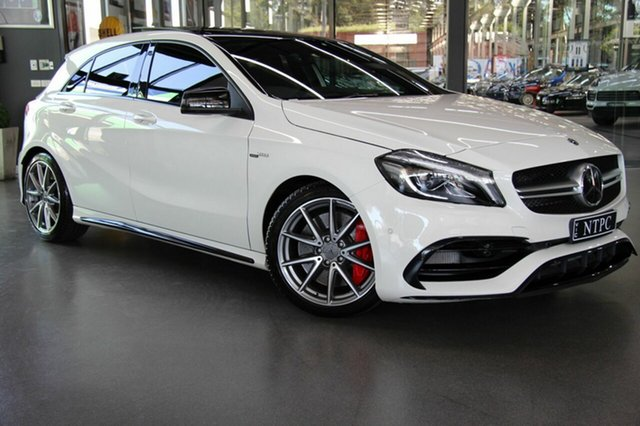Used Mercedes-Benz A45 AMG SPEEDSHIFT DCT 4MATIC, North Melbourne, 2017 Mercedes-Benz A45 AMG SPEEDSHIFT DCT 4MATIC Hatchback