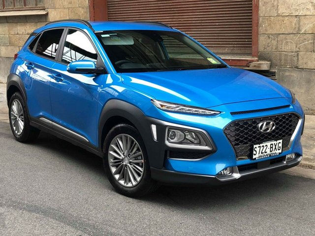 Demonstrator, Demo, Near New Hyundai Kona Elite 2WD, Cheltenham, 2018 Hyundai Kona Elite 2WD Wagon