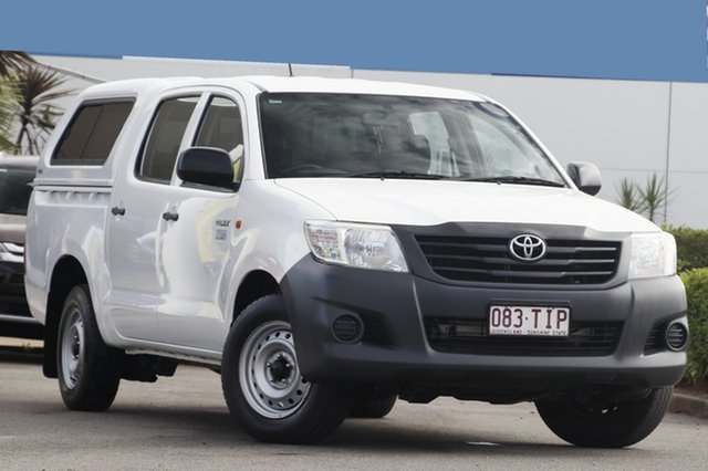 Used Toyota Hilux Workmate Double Cab 4x2, Toowong, 2013 Toyota Hilux Workmate Double Cab 4x2 Utility