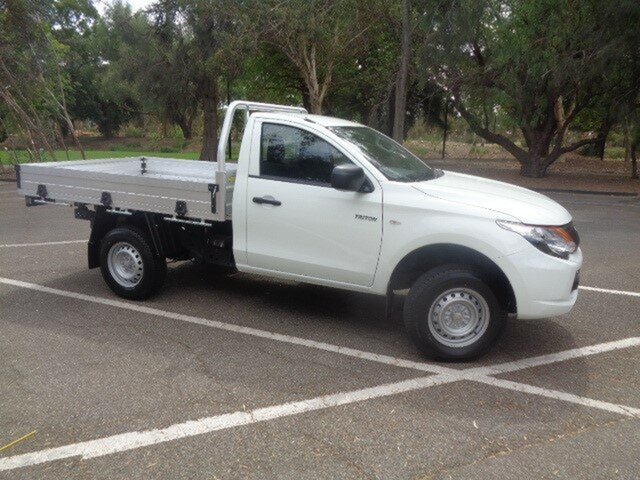 Demonstrator, Demo, Near New Mitsubishi Triton GLX 4x2, Nailsworth, 2018 Mitsubishi Triton GLX 4x2 Cab Chassis