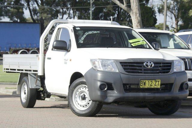 Used Toyota Hilux Workmate 4x2, Warwick Farm, 2013 Toyota Hilux Workmate 4x2 Cab Chassis