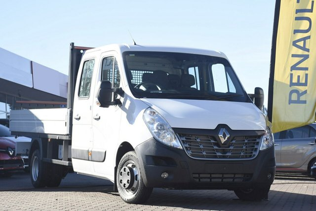 Discounted Demonstrator, Demo, Near New Renault Master Double Cab LWB AMT RWD, Narellan, 2018 Renault Master Double Cab LWB AMT RWD Cab Chassis