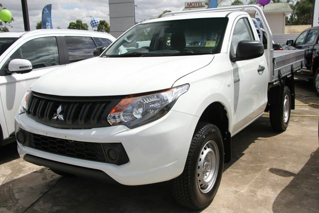 Demonstrator, Demo, Near New Mitsubishi Triton GLX 4x2, Beaudesert, 2018 Mitsubishi Triton GLX 4x2 Cab Chassis