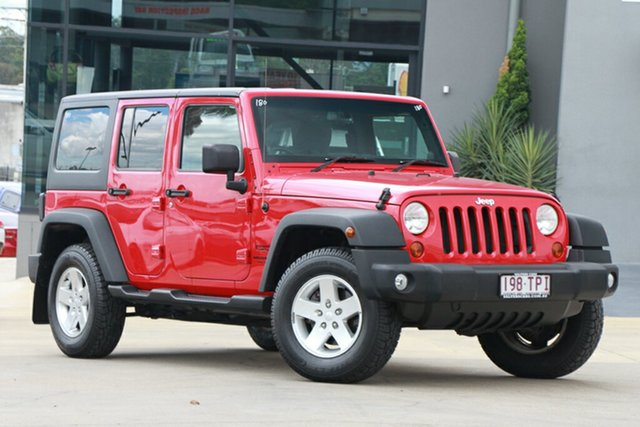 Used Jeep Wrangler Unlimited Sport, Indooroopilly, 2013 Jeep Wrangler Unlimited Sport Softtop