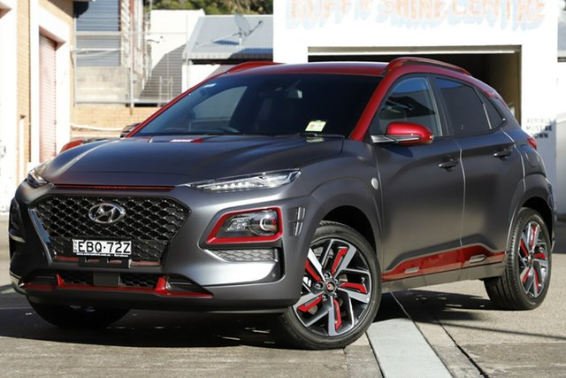 Demonstrator, Demo, Near New Hyundai Kona Iron Man Edition D-CT AWD, Brookvale, 2019 Hyundai Kona Iron Man Edition D-CT AWD Wagon