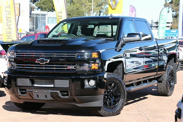 Demonstrator, Demo, Near New Chevrolet Silverado 2500HD Pickup Crew Cab LTZ Midnight Edition, Brookvale, 2019 Chevrolet Silverado 2500HD Pickup Crew Cab LTZ Midnight Edition Utility