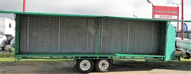Used John Papas Twin Axle Long Flatbed Trailer, Bellevue, 2008 John Papas Twin Axle Long Flatbed Trailer