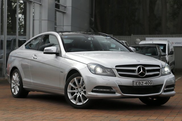 Used Mercedes-Benz C180 BlueEFFICIENCY 7G-Tronic +, Artarmon, 2012 Mercedes-Benz C180 BlueEFFICIENCY 7G-Tronic + Coupe