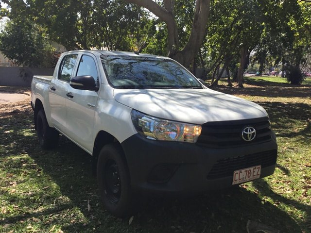 Discounted Used Toyota Hilux Workmate (4x4), Parap, 2016 Toyota Hilux Workmate (4x4) Dual Cab Utility