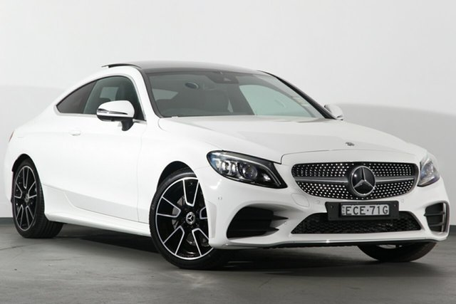 Demonstrator, Demo, Near New Mercedes-Benz C-Class C200 9G-Tronic, Narellan, 2019 Mercedes-Benz C-Class C200 9G-Tronic Coupe
