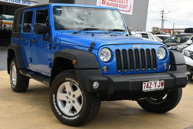 Used Jeep Wrangler Unlimited Sport, Indooroopilly, 2015 Jeep Wrangler Unlimited Sport Softtop