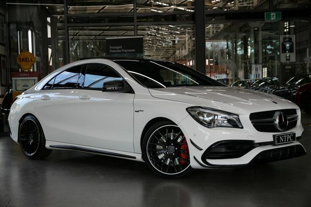 Used Mercedes-Benz CLA45 AMG SPEEDSHIFT DCT 4MATIC, North Melbourne, 2018 Mercedes-Benz CLA45 AMG SPEEDSHIFT DCT 4MATIC Coupe