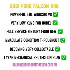 2001 Ford Falcon XR8 Sedan.