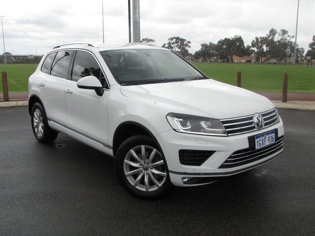 Used Volkswagen Touareg 150TDI Tiptronic 4MOTION, Maddington, 2015 Volkswagen Touareg 150TDI Tiptronic 4MOTION Wagon