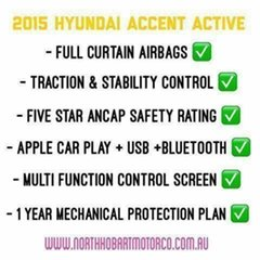 2015 Hyundai Accent Active Sedan.