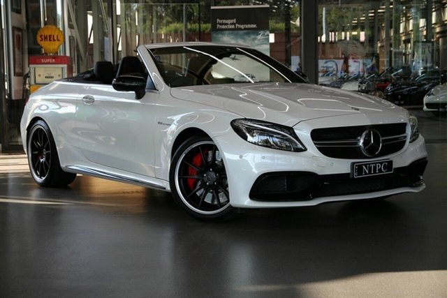 Used Mercedes-Benz C-Class C63 AMG SPEEDSHIFT MCT S, North Melbourne, 2016 Mercedes-Benz C-Class C63 AMG SPEEDSHIFT MCT S Cabriolet