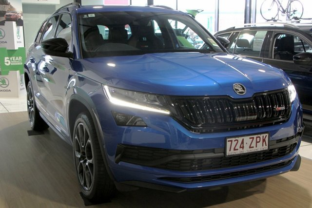 Demonstrator, Demo, Near New Skoda Kodiaq RS DSG, Bowen Hills, 2019 Skoda Kodiaq RS DSG Wagon