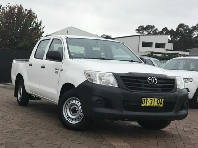 Discounted Used Toyota Hilux Workmate Double Cab 4x2, Warwick Farm, 2012 Toyota Hilux Workmate Double Cab 4x2 Utility