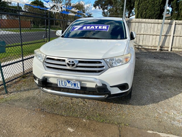 Used Toyota Kluger KX-R 2WD, Cranbourne, 2011 Toyota Kluger KX-R 2WD Wagon