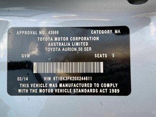 2014 Toyota Aurion AT-X Sedan.