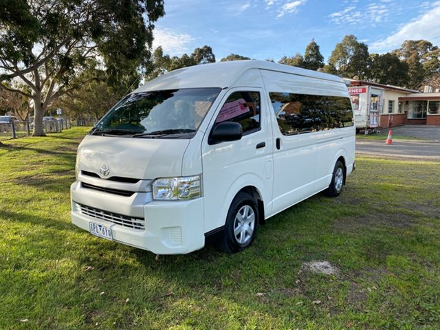 Used Toyota HiAce Commuter High Roof Super LWB, Cranbourne, 2017 Toyota HiAce Commuter High Roof Super LWB Bus