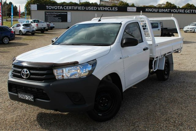 Used Toyota Hilux Workmate, Narellan, 2017 Toyota Hilux Workmate Cab Chassis