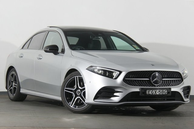 Demonstrator, Demo, Near New Mercedes-Benz A-Class A200 DCT, Warwick Farm, 2019 Mercedes-Benz A-Class A200 DCT Sedan