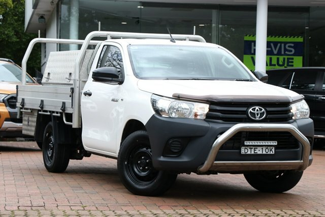 Used Toyota Hilux Workmate 4x2, Artarmon, 2017 Toyota Hilux Workmate 4x2 Cab Chassis