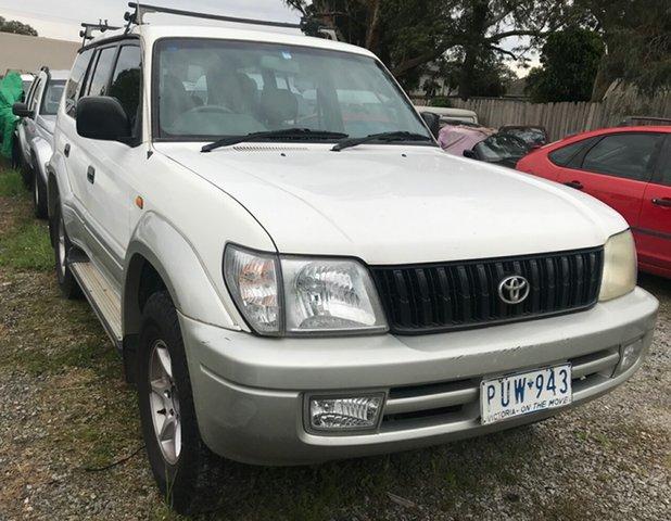 Used Toyota Landcruiser Prado GXL (4x4), Glen Waverley, 2000 Toyota Landcruiser Prado GXL (4x4) Wagon