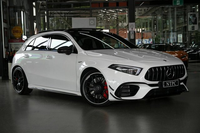 Used Mercedes-Benz A-Class A45 AMG SPEEDSHIFT DCT 4MATIC+ S, North Melbourne, 2020 Mercedes-Benz A-Class A45 AMG SPEEDSHIFT DCT 4MATIC+ S Hatchback