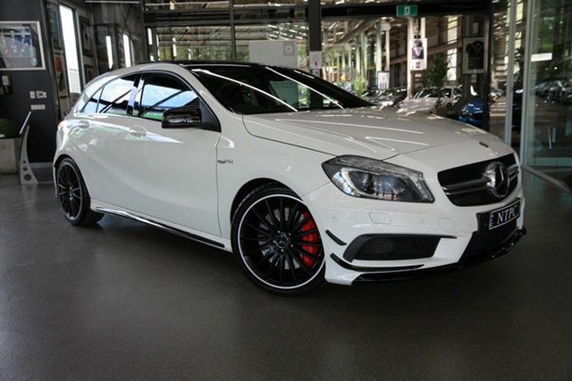 Used Mercedes-Benz A-Class A45 AMG SPEEDSHIFT DCT 4MATIC, North Melbourne, 2014 Mercedes-Benz A-Class A45 AMG SPEEDSHIFT DCT 4MATIC Hatchback
