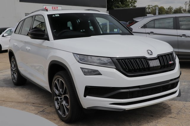 Discounted Demonstrator, Demo, Near New Skoda Kodiaq RS DSG, Bowen Hills, 2020 Skoda Kodiaq RS DSG Wagon