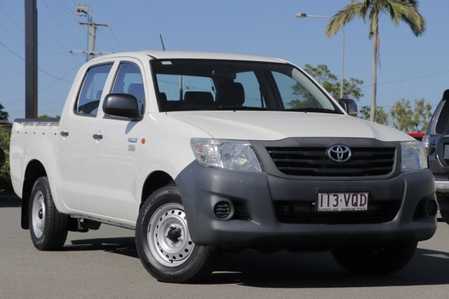 Used Toyota Hilux Workmate Double Cab 4x2, Bowen Hills, 2015 Toyota Hilux Workmate Double Cab 4x2 Utility