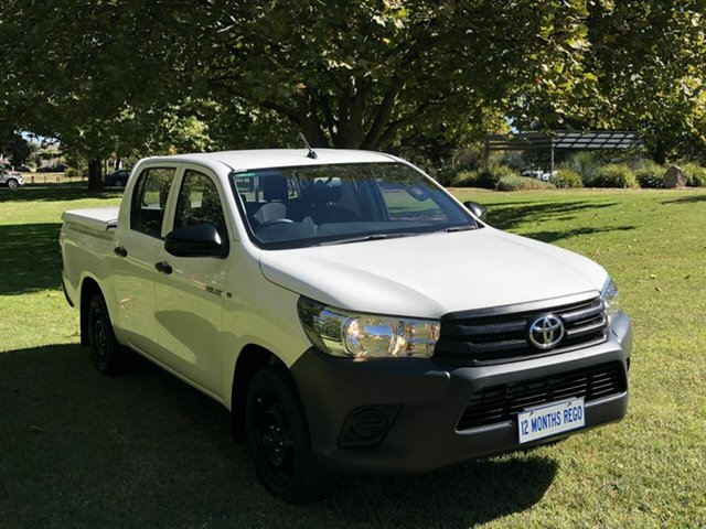 Used Toyota Hilux Workmate Double Cab 4x2, Queanbeyan, 2016 Toyota Hilux Workmate Double Cab 4x2 Utility