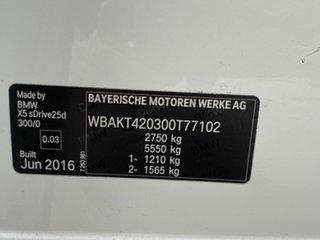 2016 BMW X5 sDrive 25D Wagon.