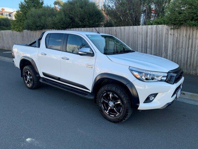 Used Toyota Hilux TRD White (4x4), North Hobart, 2017 Toyota Hilux TRD White (4x4) Dual Cab Utility