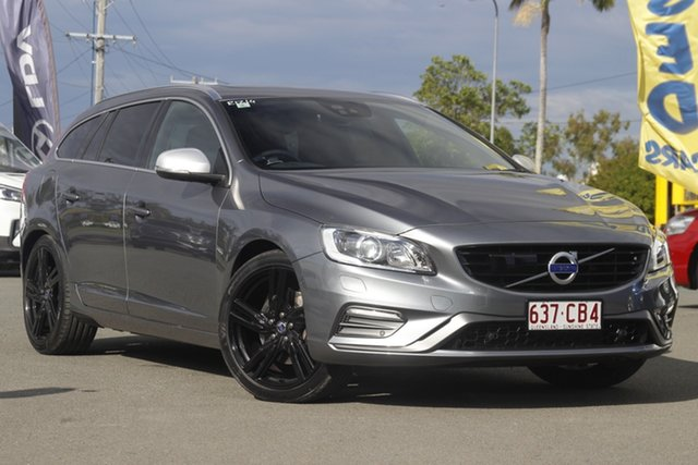 Used Volvo V60 T6 Geartronic AWD R-Design, Bowen Hills, 2016 Volvo V60 T6 Geartronic AWD R-Design Wagon